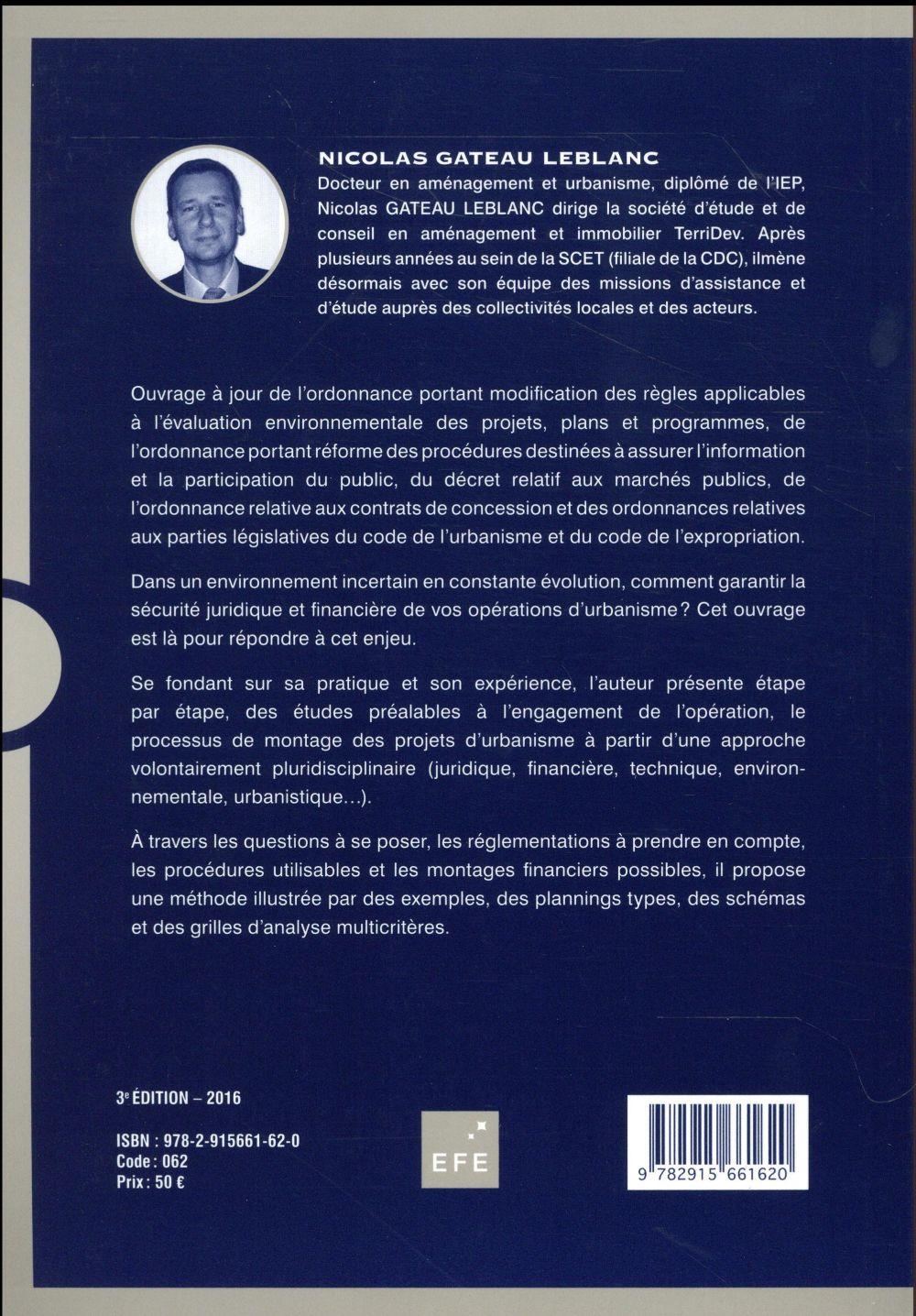 Montage d'opérations d'aménagement (3e édition)