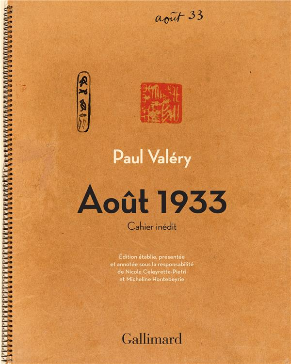 Août 1933 ; cahier inédit