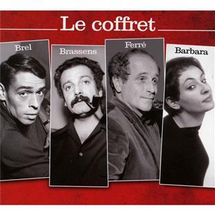 le coffret Brel Brassens Barbara Ferré 2012