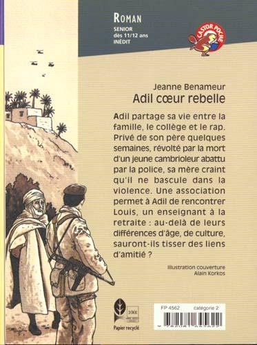 Adil, coeur rebelle - - roman, senior des 11/12ans