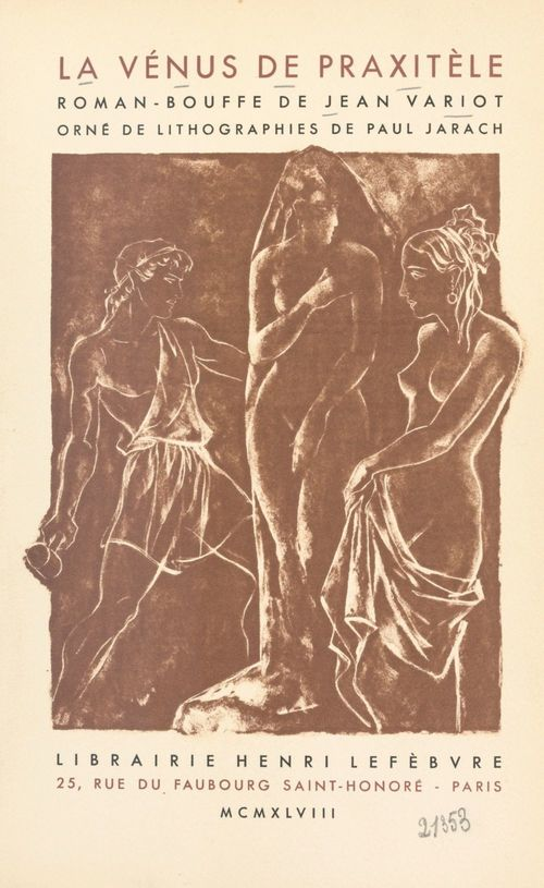 La Vénus de Praxitèle  - Jean Variot