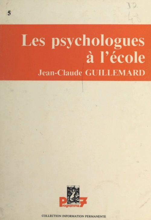 Les psychologues à l'école