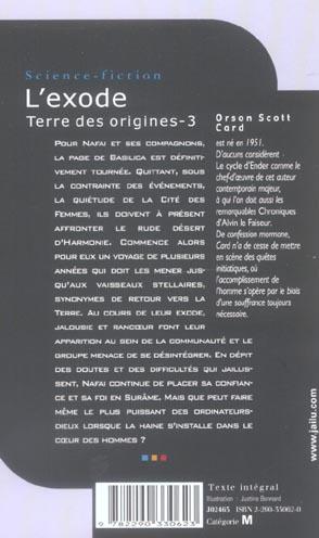 Terre des origines t.3 ; l'exode