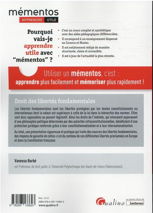 droit des libertés fondamentales (édition 2021/2022)