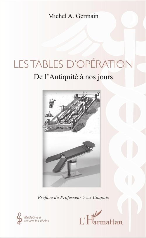 Les tables d'opération