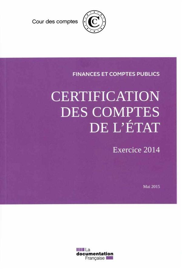 Certification des comptes de l'état ; mai 2015