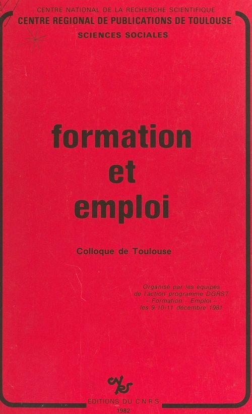 Formation et emploi