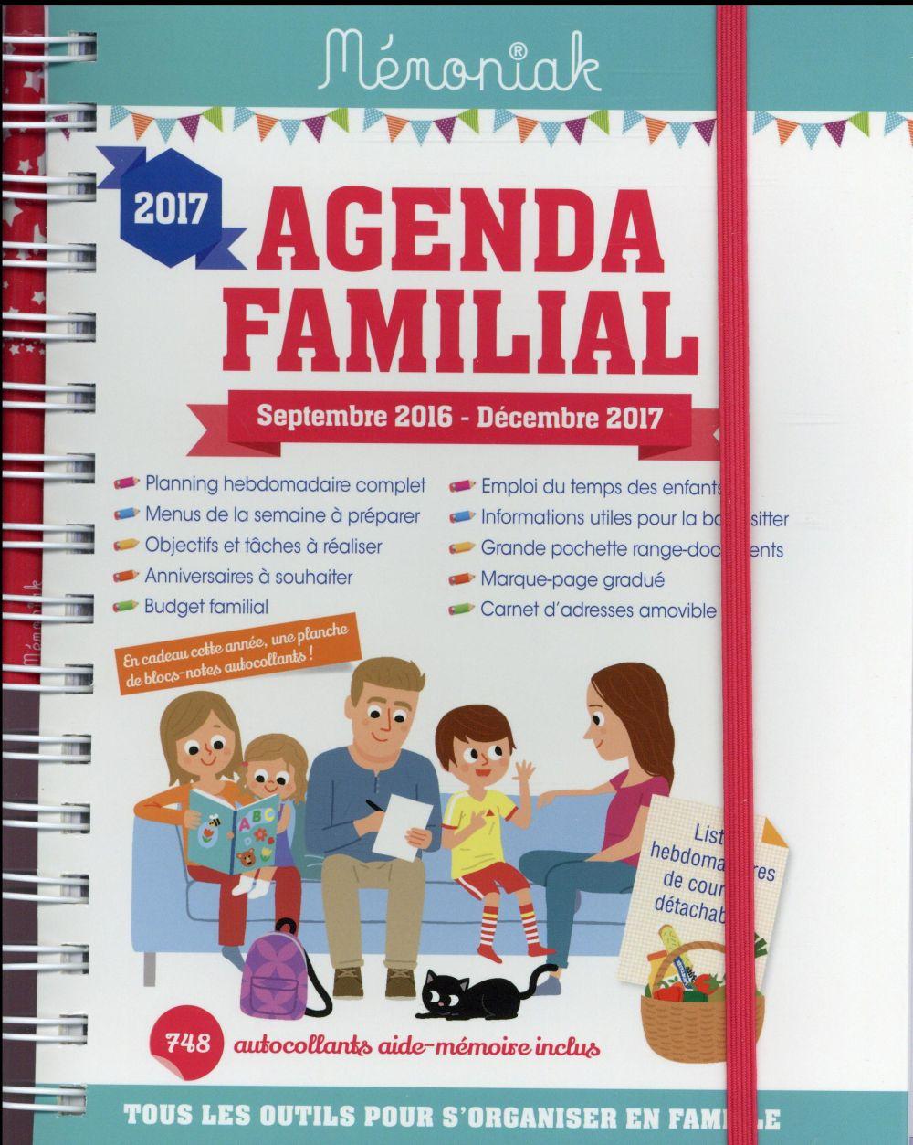 Mémoniak ; agenda familial (édition 2016/2017)