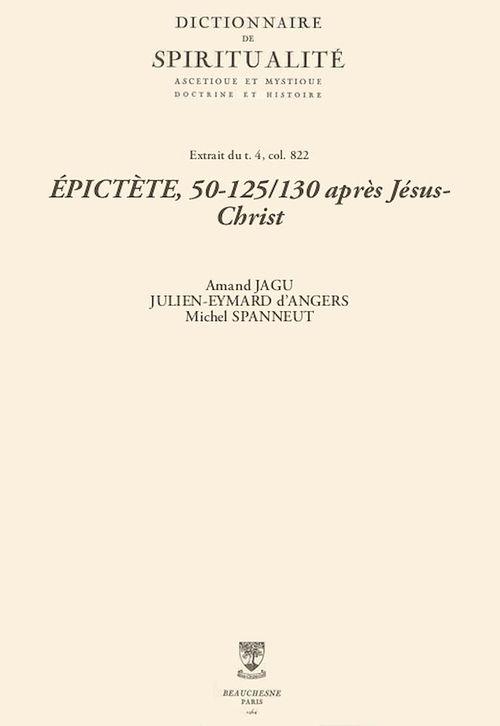 ÉPICTÈTE, 50-125/130 après Jésus-Christ