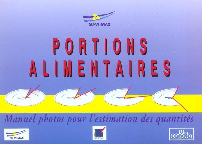Portions alimentaires ; manuel photos pour l'estimation des quantités