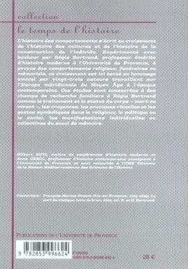 Comportements, croyances et mémoires ; europe méridionale, xv-xx siècle