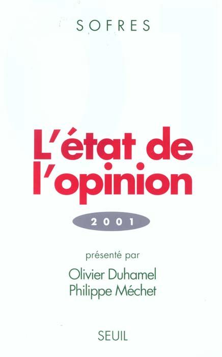 Etat de l'opinion (2001) (l')
