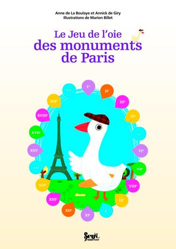 Le jeu de l'oie des monuments de Paris