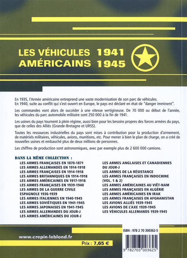 Les vehicules americains 1941-1945
