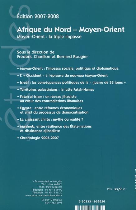 Afrique du nord - moyen orient (edition 2007/2008)