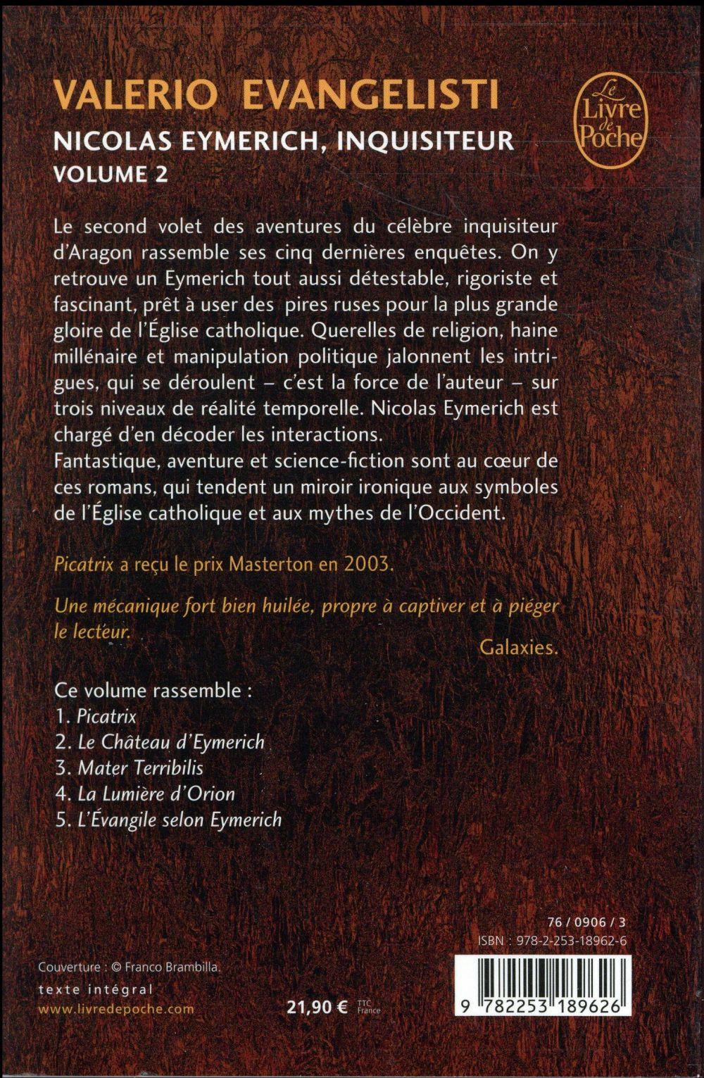 Nicolas Eymerich, inquisiteur ; INTEGRALE VOL.2 ; T.6 A T.10