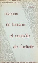 Vente EBooks : Niveaux de tension et contrôle de l'activité  - Roger PERRON