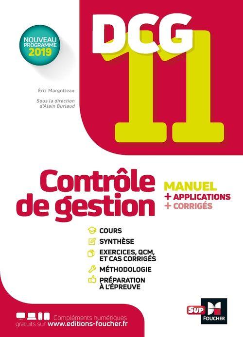 DCG 11 ; contrôle de gestion ; manuel et applications