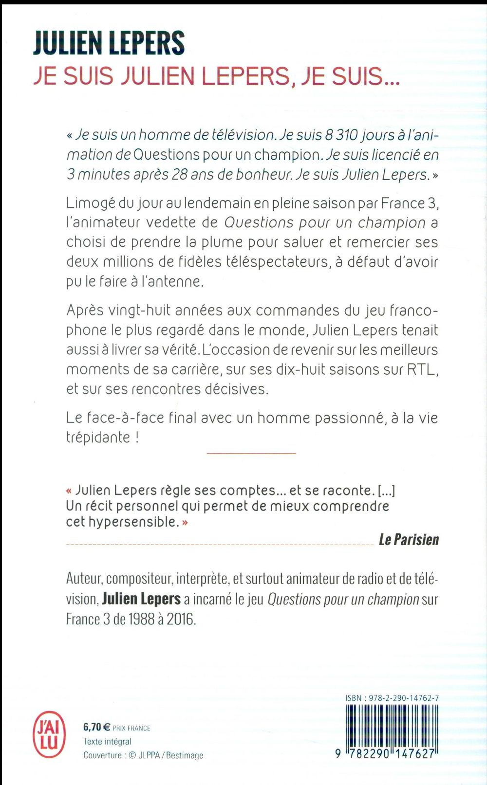 Je suis, je suis... Julien Lepers