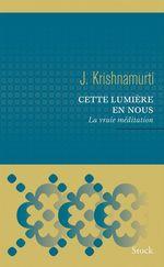Vente Livre Numérique : Cette lumière en nous  - Jiddu Krishnamurti