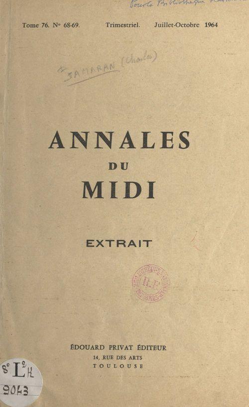 La Gascogne dans les registres du Trésor des chartes  - Charles Samaran