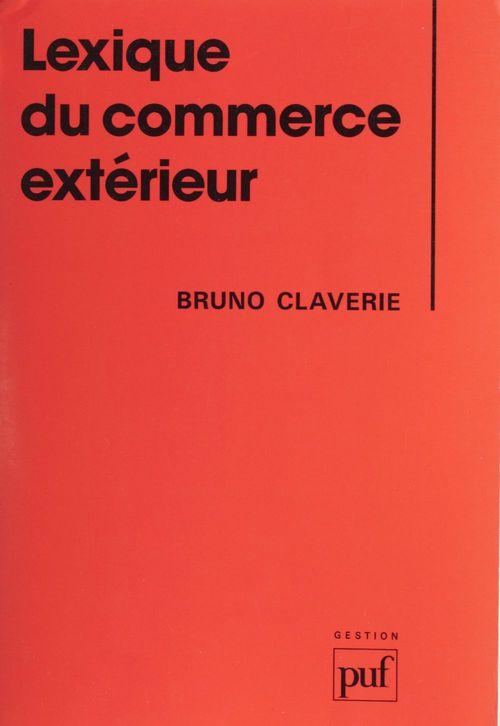 Lexique du commerce exterieur