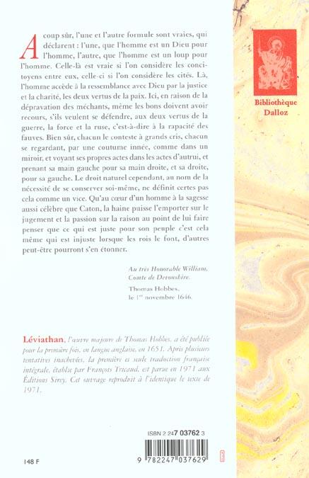 Leviathan - 1re traduction francaise de l'anglais