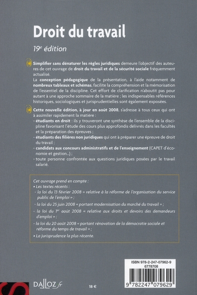 aide-mémoire ; droit du travail (19e édition)