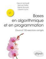 Vente Livre Numérique : Bases en algorithmique et en programmation - Cours et 120 exercices corrigés