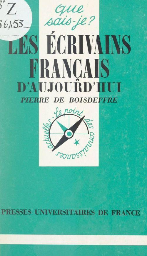 Ecrivains francais d'aujourd'hui qsj 1057