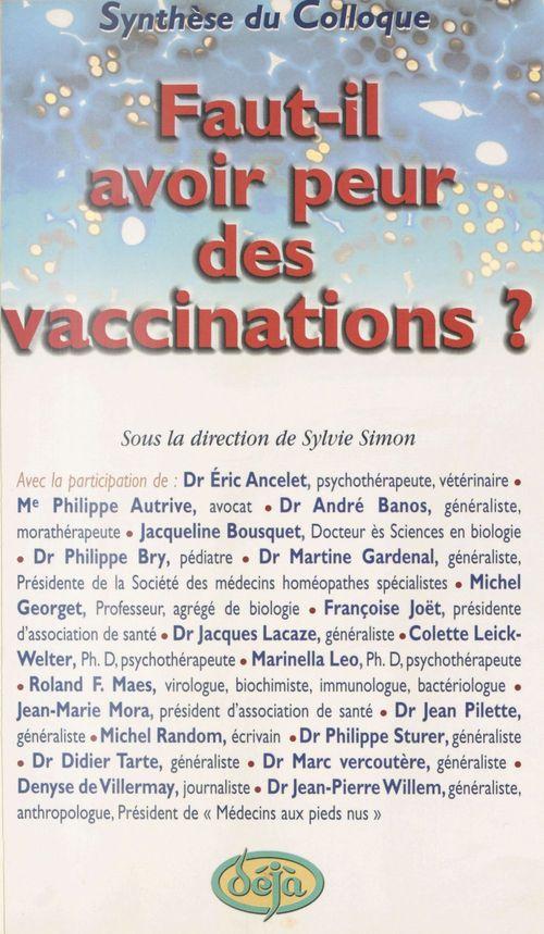 Peur des vaccinations ?