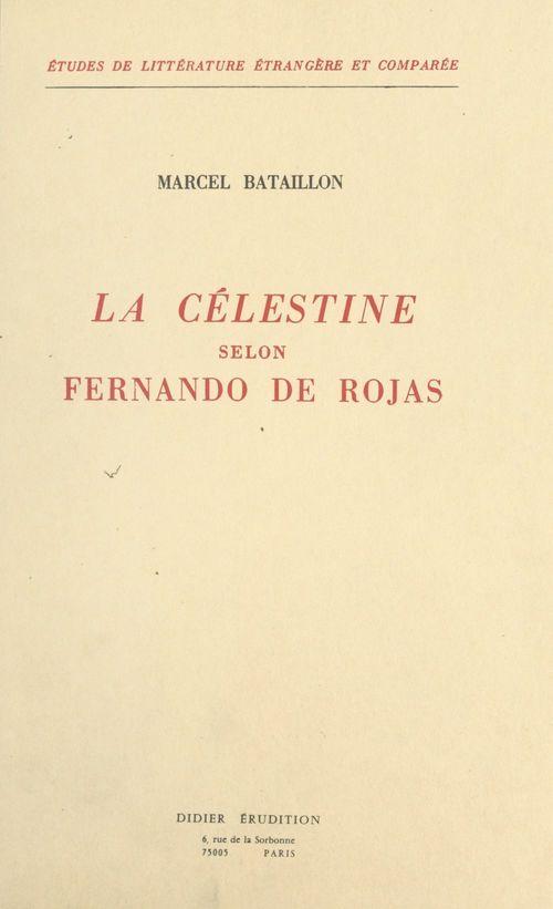 La Célestine selon Fernando de Rojas