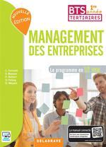 Couverture de Management des entreprises ; 1ère année bts tertiaires ; le programme en 12 cas ; pochette de l'élève