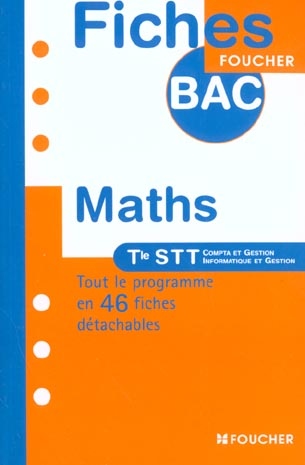 mathematiques ; terminale stt