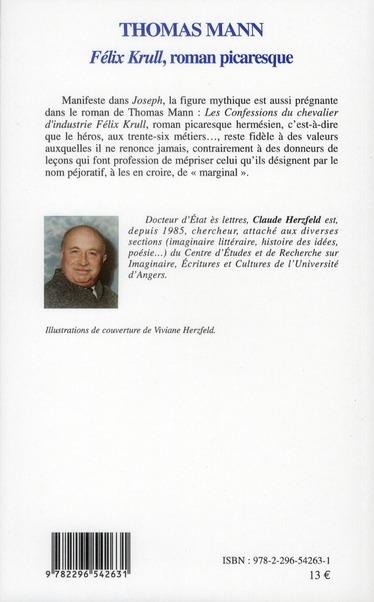Thomas Mann ; Félix Krull, roman picaresque