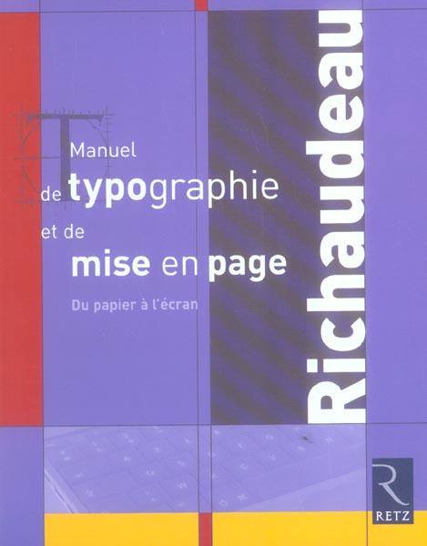 Manuel De Typographie Mise Pag