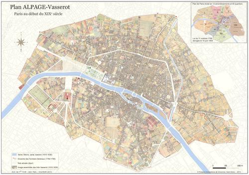 Plan Alpage-Vasserot ; Paris au début du XIXe siècle