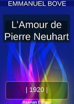 Vente Livre Numérique : L´AMOUR DE PIERRE NEUHART  - Emmanuel Bove