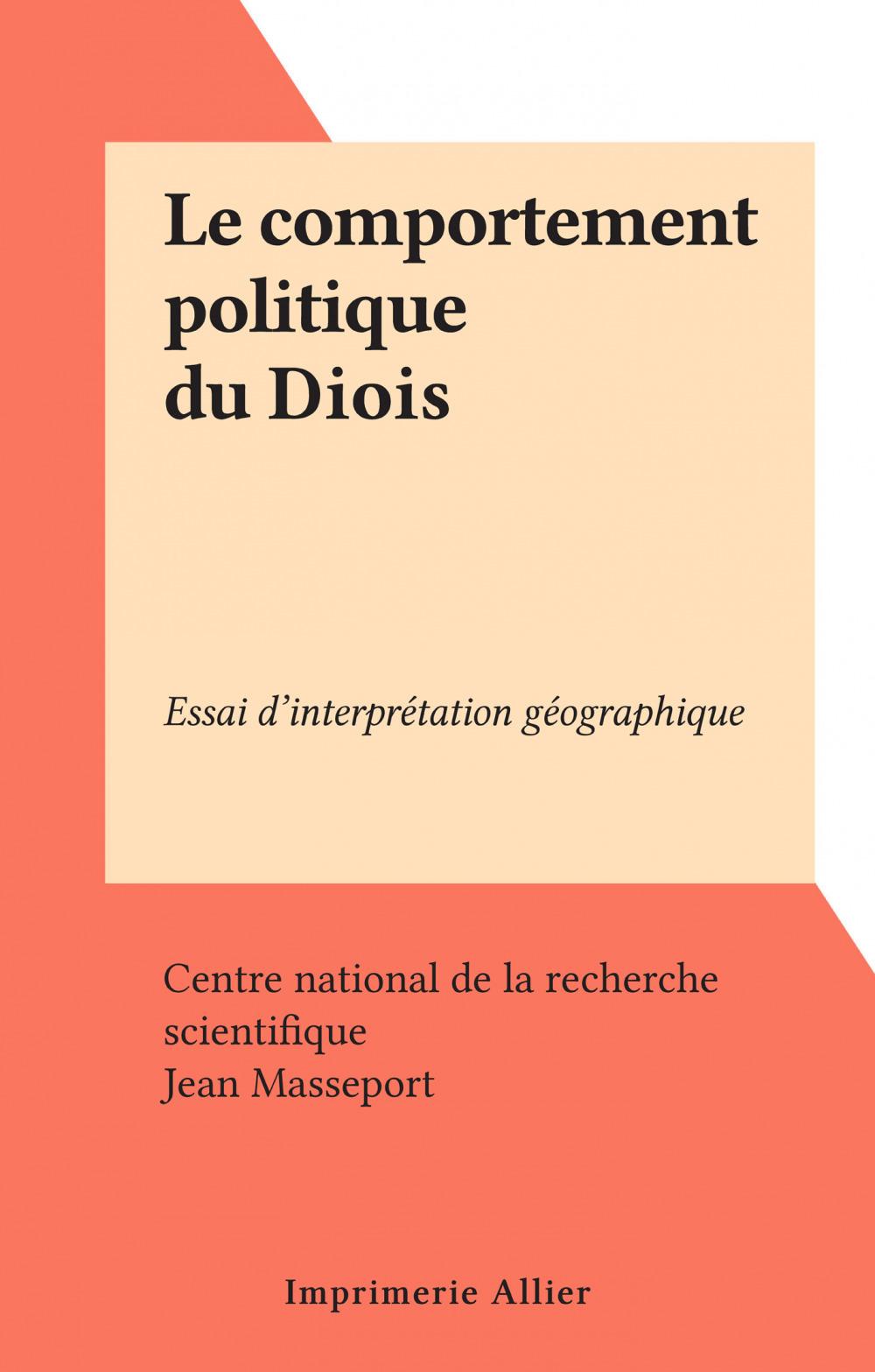 Le comportement politique du Diois