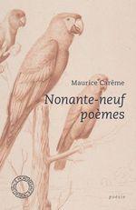 Vente Livre Numérique : Nonante-neuf poèmes  - Maurice CARÊME