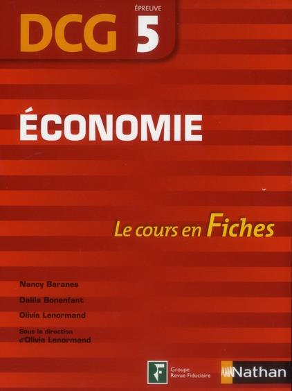 Economie ; Dcg Epreuve 5 ; Le Cours En Fiches 2012