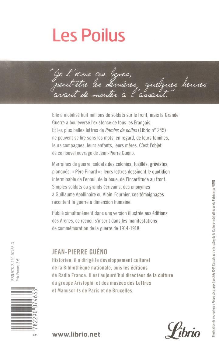 Les poilus, lettres et carnets de Français dans la Grande Guerre (1914-1918)