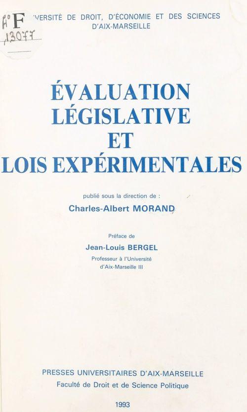 Évaluation législative et lois expérimentales