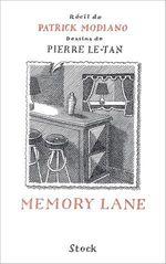 Vente Livre Numérique : Memory Lane  - Pierre Le-Tan - Patrick Modiano