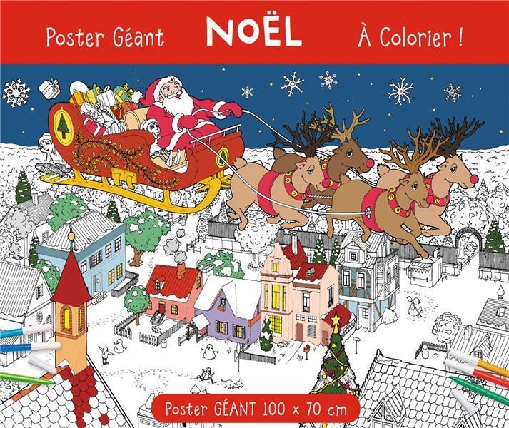 Poster géant à colorier ; Noël