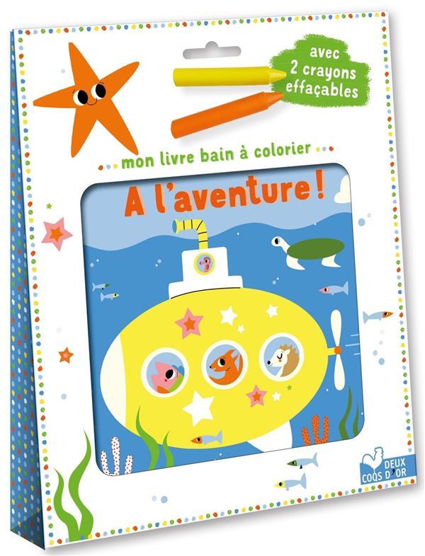 Mon livre bain à colorier : à l'aventure !