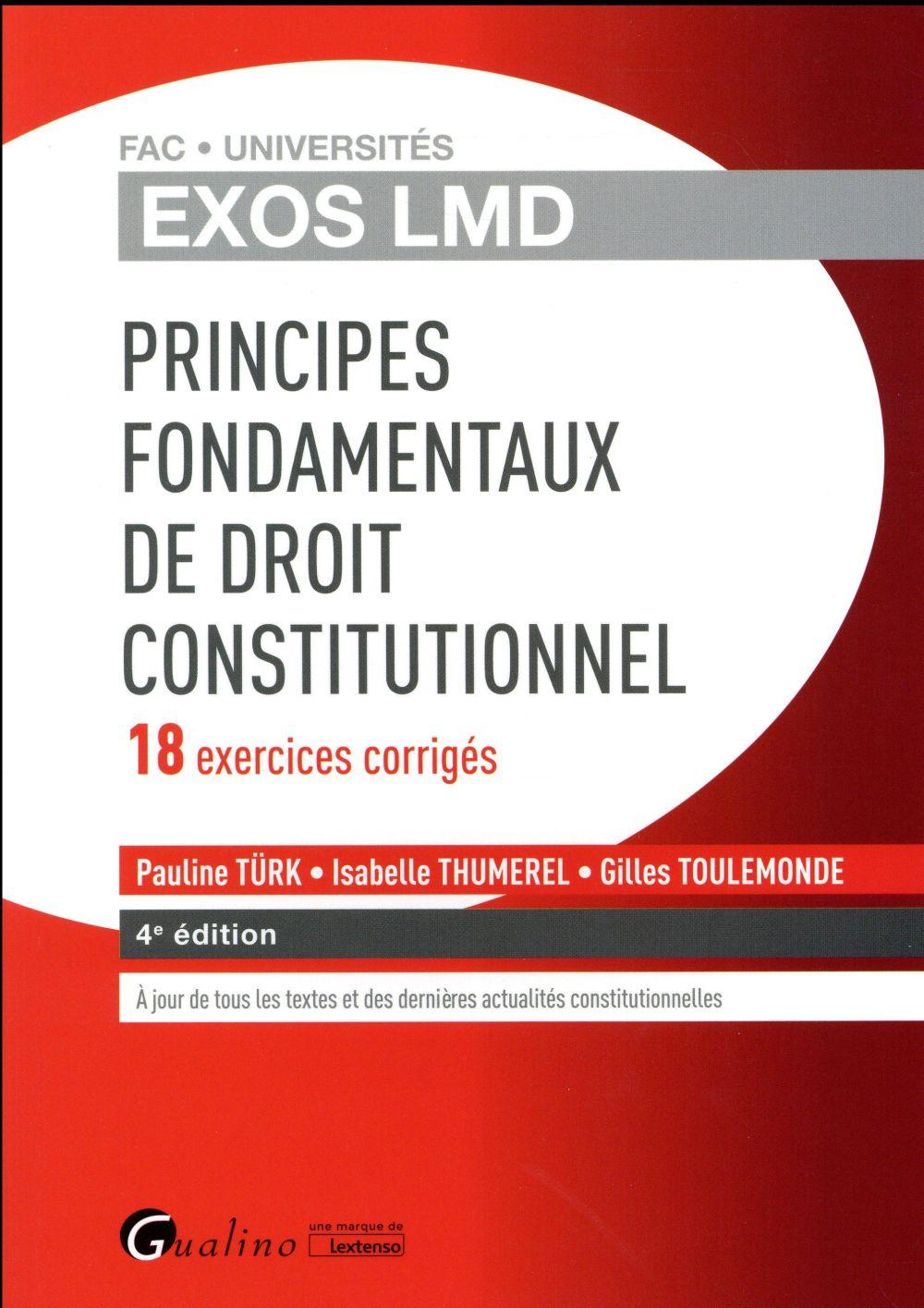 Principes fondamentaux du droit constitutionnel (4e édition)