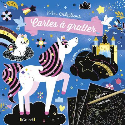 Pochette cartes à gratter ; licornes et chevaux
