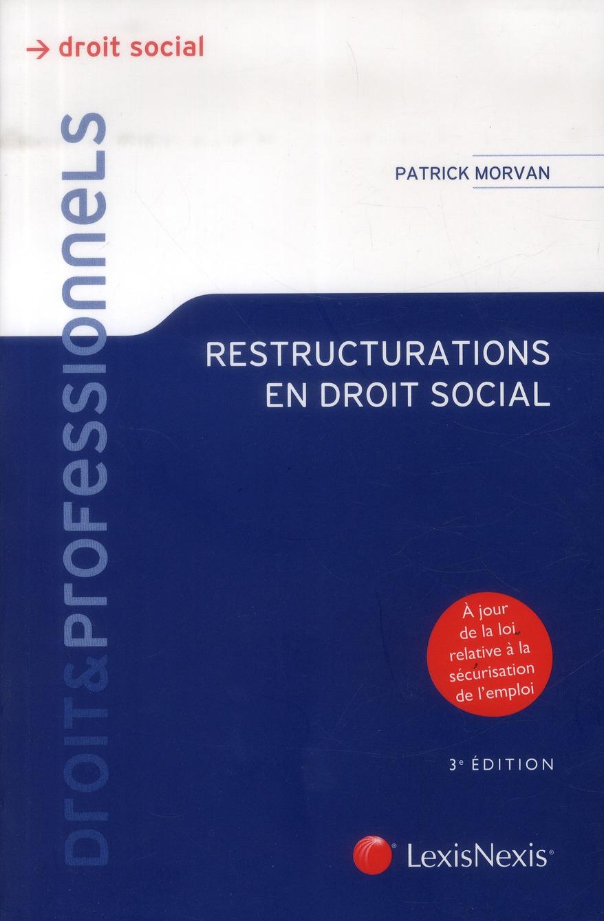 Restructurations en droit social (3e édition)