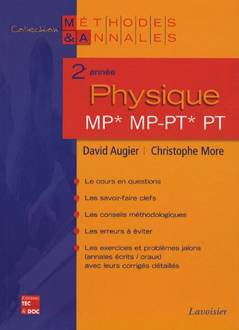 Physique ; 2e année ; MP, MP-PT, PT